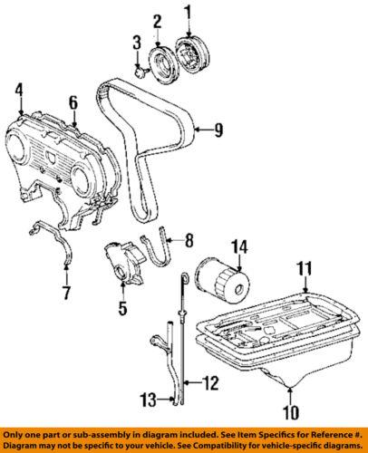 details about toyota oem 93-94 t100 3 0l-v6-engine crankshaft crank pulley  4431935020