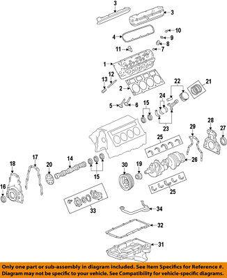 GM OEM Engine Crankshaft Crank Seal 12639250