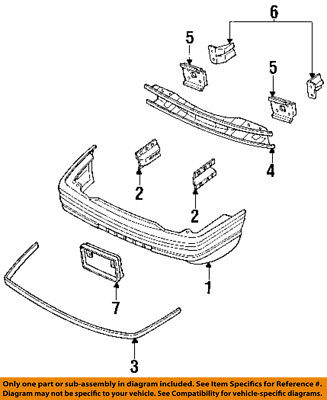 FORD OEM 93-96 Escort Front Bumper-Bumper Cover Bracket Right F3CZ17C972B ()