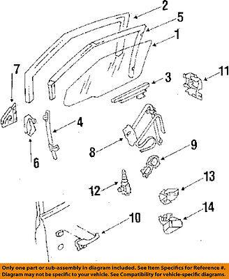 GM OEM Front Door-Window Guide 12337898