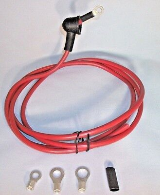 """Alternator battery wire w/boot 1/4 """" ring terminal #8 wire 3ft long APW-12143-38"""