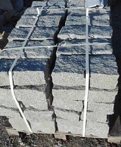 Granit Randstein Palisade Mauersteine 40x20x10cm Gestapelt 72 Stk Pro Palette
