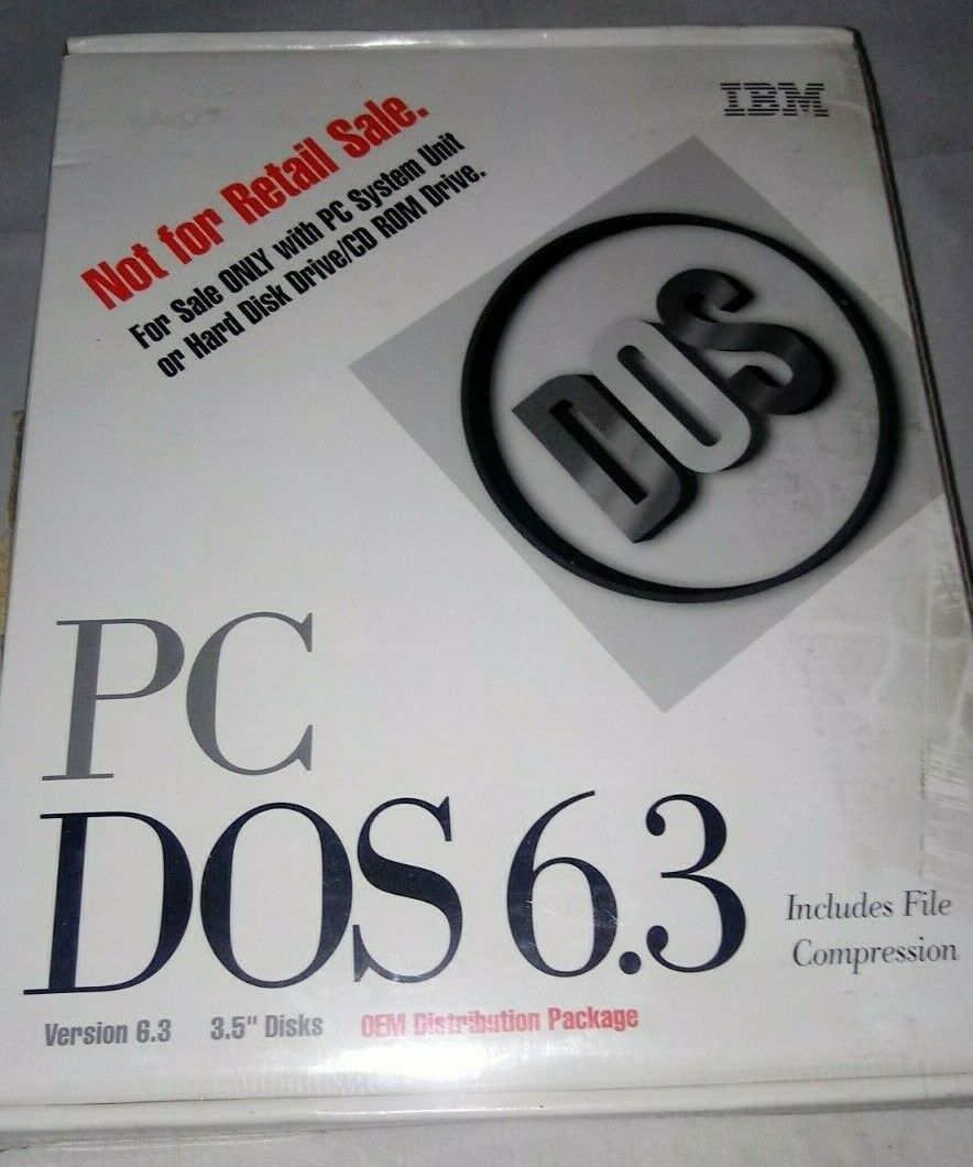IBM PC DOS 6.3 Version 6.3 - 3.5 Disks Upgrade Edition - Complete W/ New Disks - $9.00