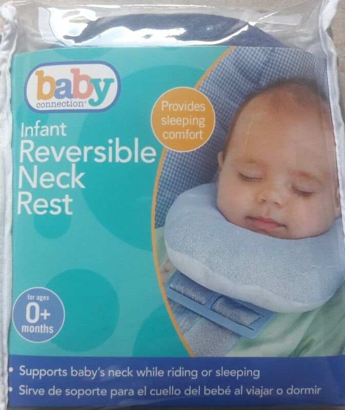 Baby Connection Infant Neck Rest/Head Support for Riding or Sleeping-Reversible