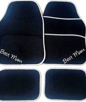 PERSONALISED UNIVERSAL Car mats Christmas Car gift BEST MUM or CHOOSE OWN