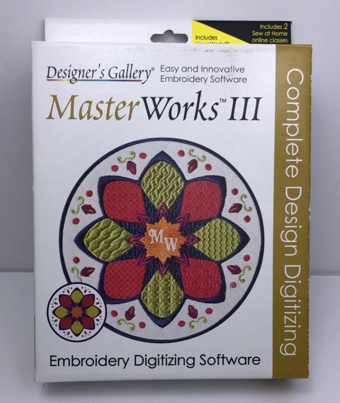 Designers Gallery MasterWorks III Embroidery Digitizing Software