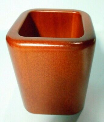 Solid Wood Pencil Cup Dark Cherry Finish 3 18 X 3 18 X 4 Furniture At Work
