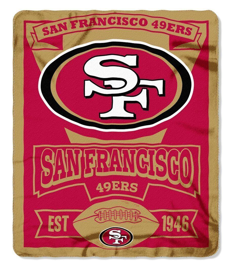 "Brand New NFL Teams  Soft Fleece Throw Blanket 50"" X 60"" Marque"