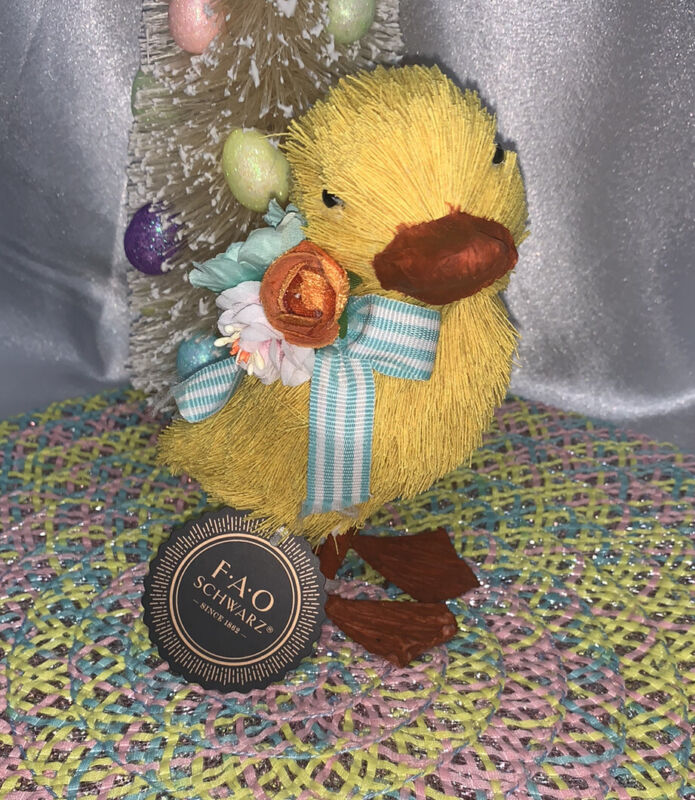 "EASTER! 🐣 FAO Schwarz Spring Paper Mache Chick 5.5""  Beautiful"