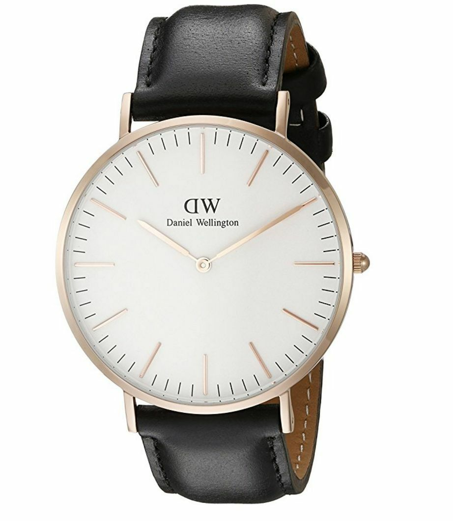 Brand New Daniel Wellington Sheffield Rose 0107DW Black Leather 40mm Mens Watch