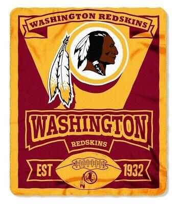 NFL Marquee Logo Lightweight Fleece Blanket (Washington Redskins) -