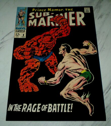 Sub-Mariner #8 NM/MT 9.8 White pages 1968 Marvel - Thing battle issue