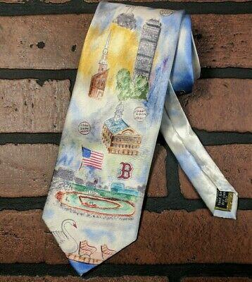 RARE! 2004 World Series Boston Red Sox Necktie Fenway Duck Boats Boston  Mint UC Boston Red Sox Necktie