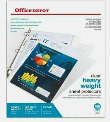 Office Depot Clear Heavyweight Sheet Protector 8 1