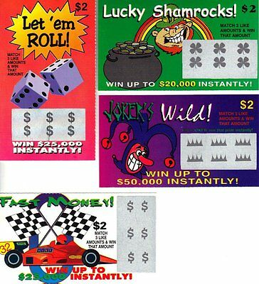 Fake Lottery Tickets (6 Total Tickets) - Each Ticket Is A FAKE WINNER!