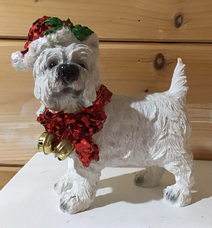 Wear Highland White Terrier Christmas Dog Figure NWT