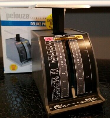 1999 Pelouze Deluxe Postal Scale 2 Lb. Capacity 12 Oz. Increments Tabletop