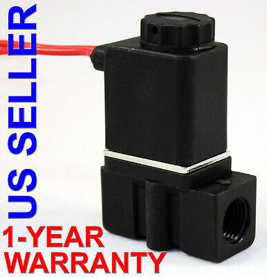 14 Inch Npt Gravity Feed 24 Vdc Plastic Nylon Solenoid Valve Normally Closed