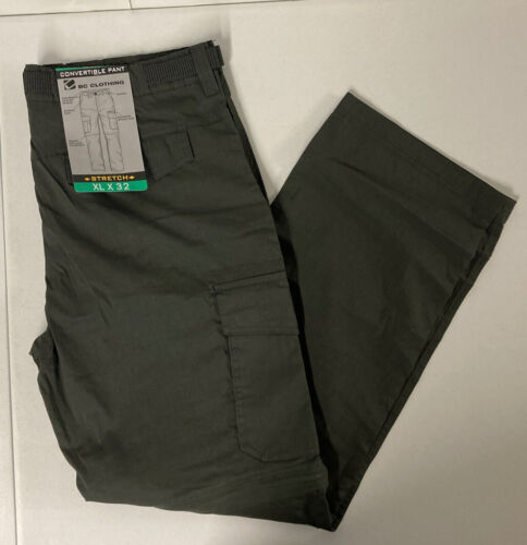 BC Clothing Men's Convertible Cargo Pants Stretch Relaxed XL