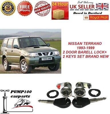 2 Barrel Lock Set Door fits NISSAN MICRA K11 PRIMERA P10 SUNNY N14 TERRANO