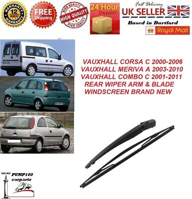 REAR WIPER ARM FOR VAUXHALL OPEL MERIVA A MK1 CORSA C MK2 COMBO C 1273391