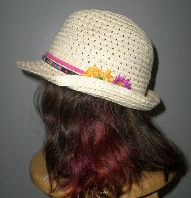 EASTER FEDORA women's church cap w/ flowers 1980s pastels straw hat](Womens Easter Hats)