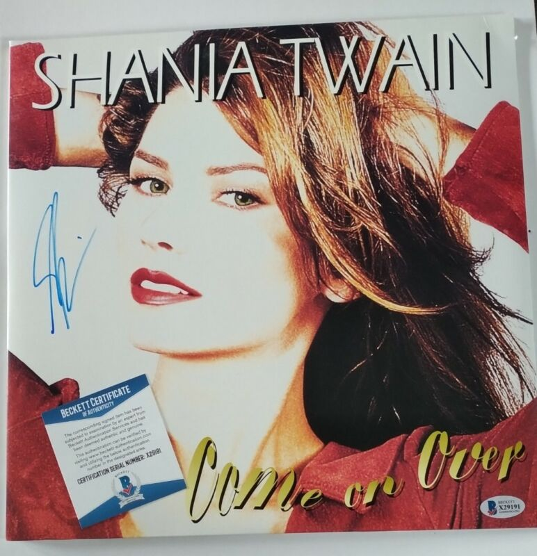 Shania Twain Music Legend Signed Autographed COME ON OVER Vinyl Album BECKETT