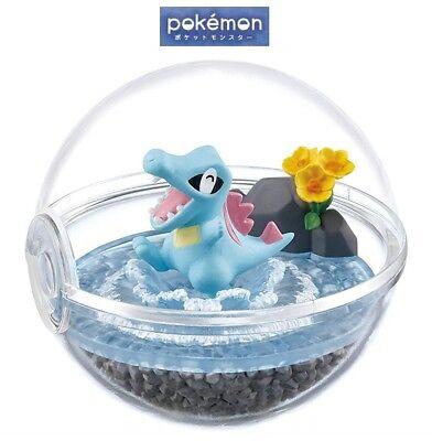 RE-MENT Pokemon Terrarium Collection 4 Poke Ball Case Figure Totodile Waninoko