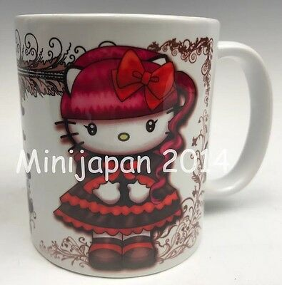 Hello Kitty Cups (Hello Kitty Lolita gothic ceramic cup 11 oz mug Original Design US)
