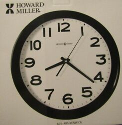 Howard Miller Kenwick Wall Clock, 13-1/2, Black Case And Glass Crystal 625-485