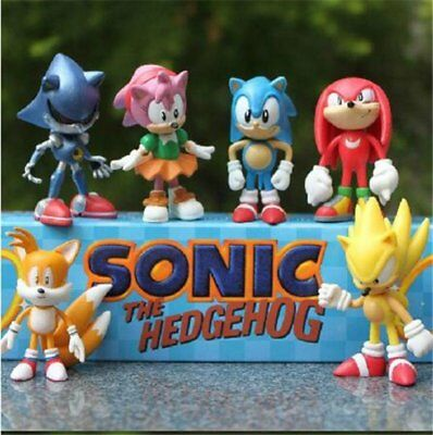 Sonic the Hedgehog Cake Topper | 6 High Quality Figures | By ToysoutletUSA (Sonic Cake)
