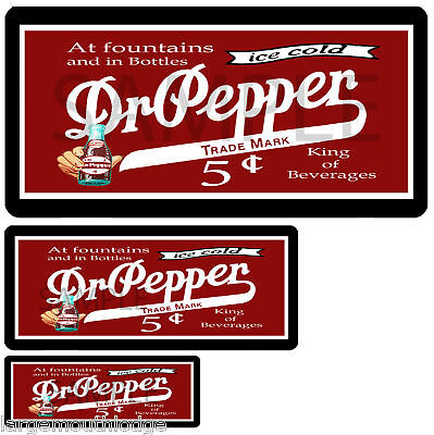DR PEPPER 3 DECAL SHEET NORTHWESTERN GUMBALL MACHINE