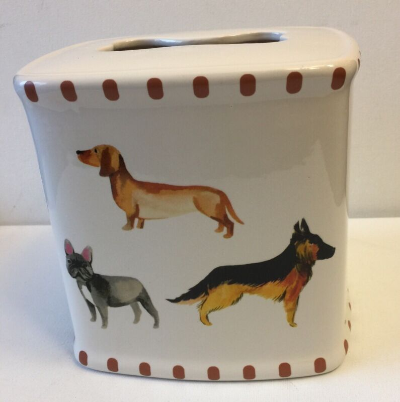 French Bulldog Ceramic Tissue Box