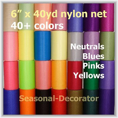 Scrubbie Mesh Nylon Net 6  40Yd  Spool  First Half Of 40 Colors