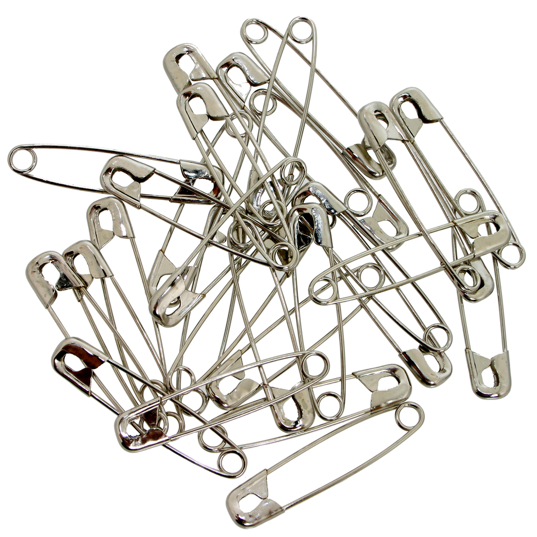 NEW METAL SAFETY PINS SILVER SEWING COSTUME CRAFT DRESS MAKING TOP QUALITY