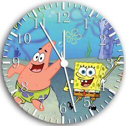 SpongeBob SquarePants Frameless Borderless Wall Clock Nice Gifts or Decor Z65