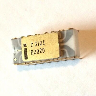 WORLDs 1ST RAM: INTEL C3101 | GREY TRACE OLD GOLD VINTAGE IC MEMORY PRE 4004 NOS