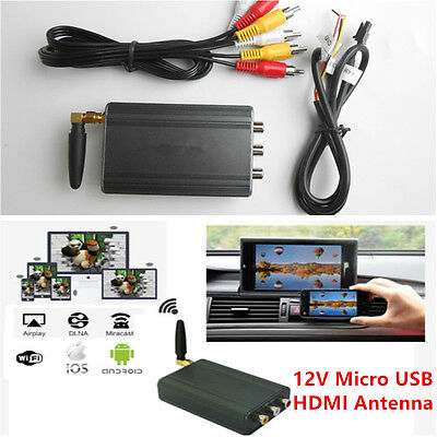 Auto Home Miracast Airplay Android IOS TV WiFi Mirror Link Adapter Synchronizer