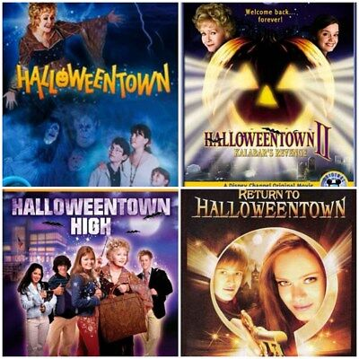 Halloweentown Complete Series Movies 1 2 3 4 - DVD - ENGLISH (Halloweentown 4)