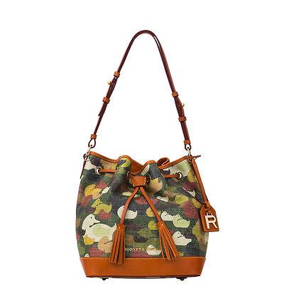 Dooney & Bourke DY038 Robertson Camouflage Duck Dynasty Drawstring Green Bag