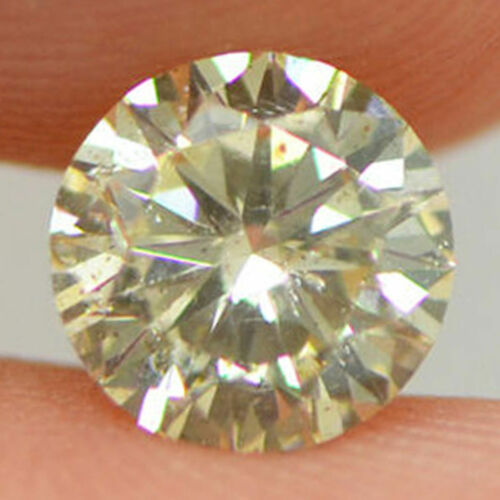 GIA Certified Diamond Loose 1 ct Fancy Yellow Brown Round Brilliant Natural Real