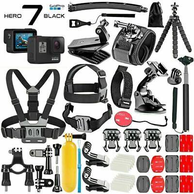 GoPro HERO 7 Black 4K Action Camera Plus **Deluxe Mega Kit Accessories Bundle** Deluxe Camcorder