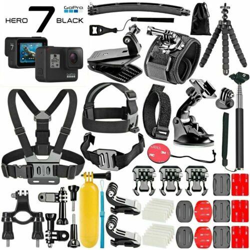 GoPro HERO 7 Black 4K Action Camera Plus **Deluxe Mega Kit Accessories Bundle**