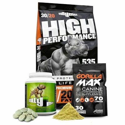 Bully Max Complete Muscle Building Package (Dog food + Gorilla Max + Bully Max)