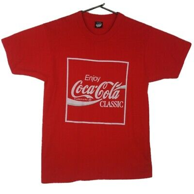Vintage Screen Stars 80s Single Stitch Coca Cola Logo Graphic T Shirt Size Large