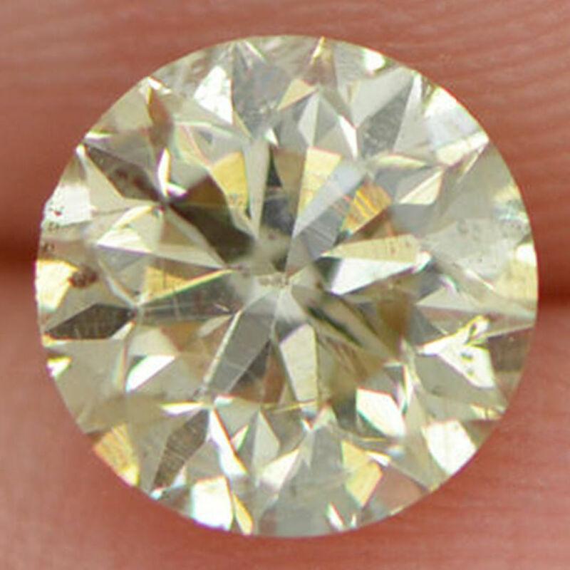 Loose Champagne Diamond 1.00 Carat Round Brilliant Cut Fancy Color Si1 Enhanced