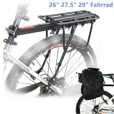"Fahrrad Alu Gepäckträger geeignet für Mountainbike MTB Sattelstütze 26"" 29"" 50kg"