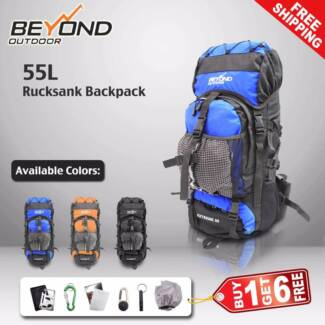 55L Camping Hiking Travel Backpack RUCKSACK Water proof Backpack Dandenong South Greater Dandenong Preview