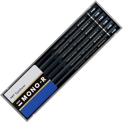 Tombow Pencil MONO-R HB With Plastic case 1 dozen Long-selli