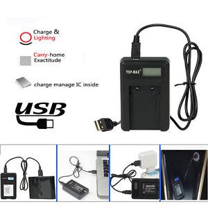 USB Battery Charger for Samsung SLB-10A ES55 ES60 PL50 TL9